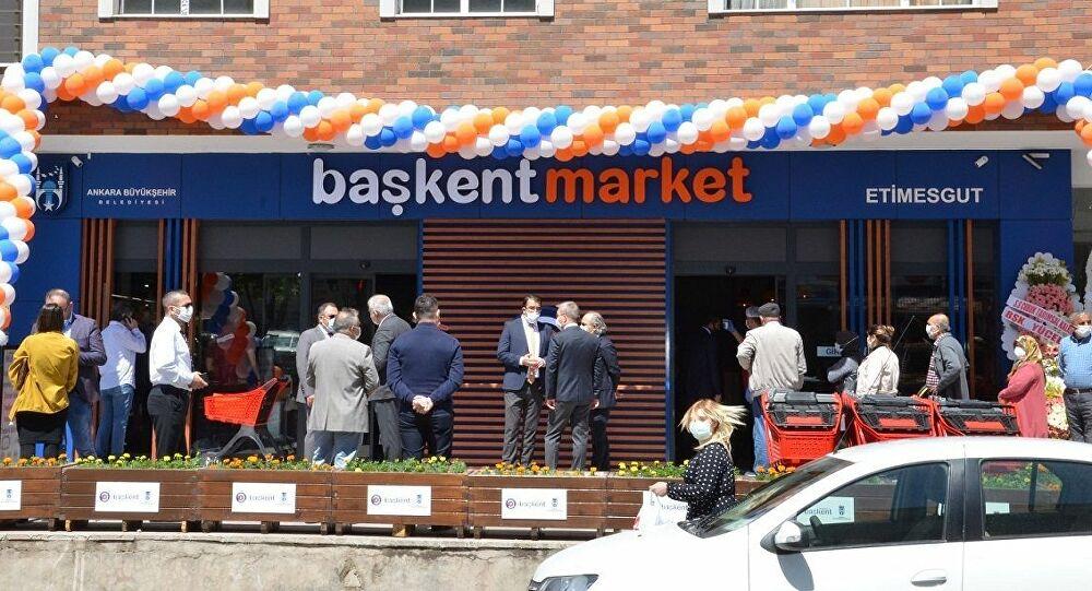 Ankara Büyükşehir Belediyesi tarafından kadın kooperatifleri ve birliklerinin ürünlerinin satıldığı yeni marketler