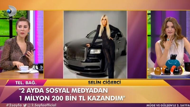 Sosyal medya fenomeni Selin Ciğerci canlı yayında ne kadar vergi ödediğini açıkladı