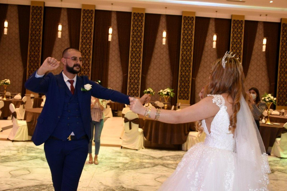 Korona günlerinde yeni düğün düzeni provası yapıldı
