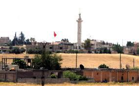 Telabyad'da Türk bayrağı dalgalanıyor