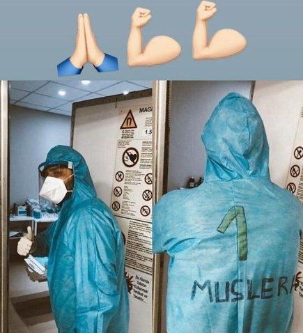 Muslera'dan sağlık personeline sosyal medya jesti