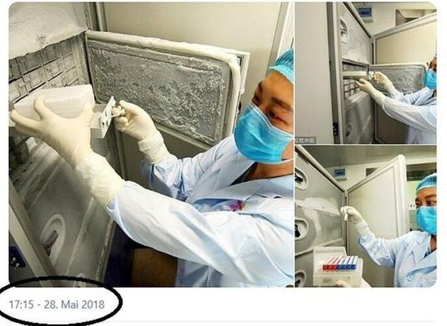 Çin'in Ubey Eyaleti Vuhan kenti Viroloji Enstitüsü Labaratuvarı 2018'de çekilmiş fotoğraf kafaları karıştırdı
