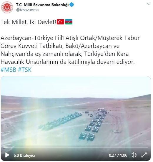 Türkiye-Azerbaycan ortak askeri tatbikatı parmak ısırtan bir gövde gösterisine dönüştü