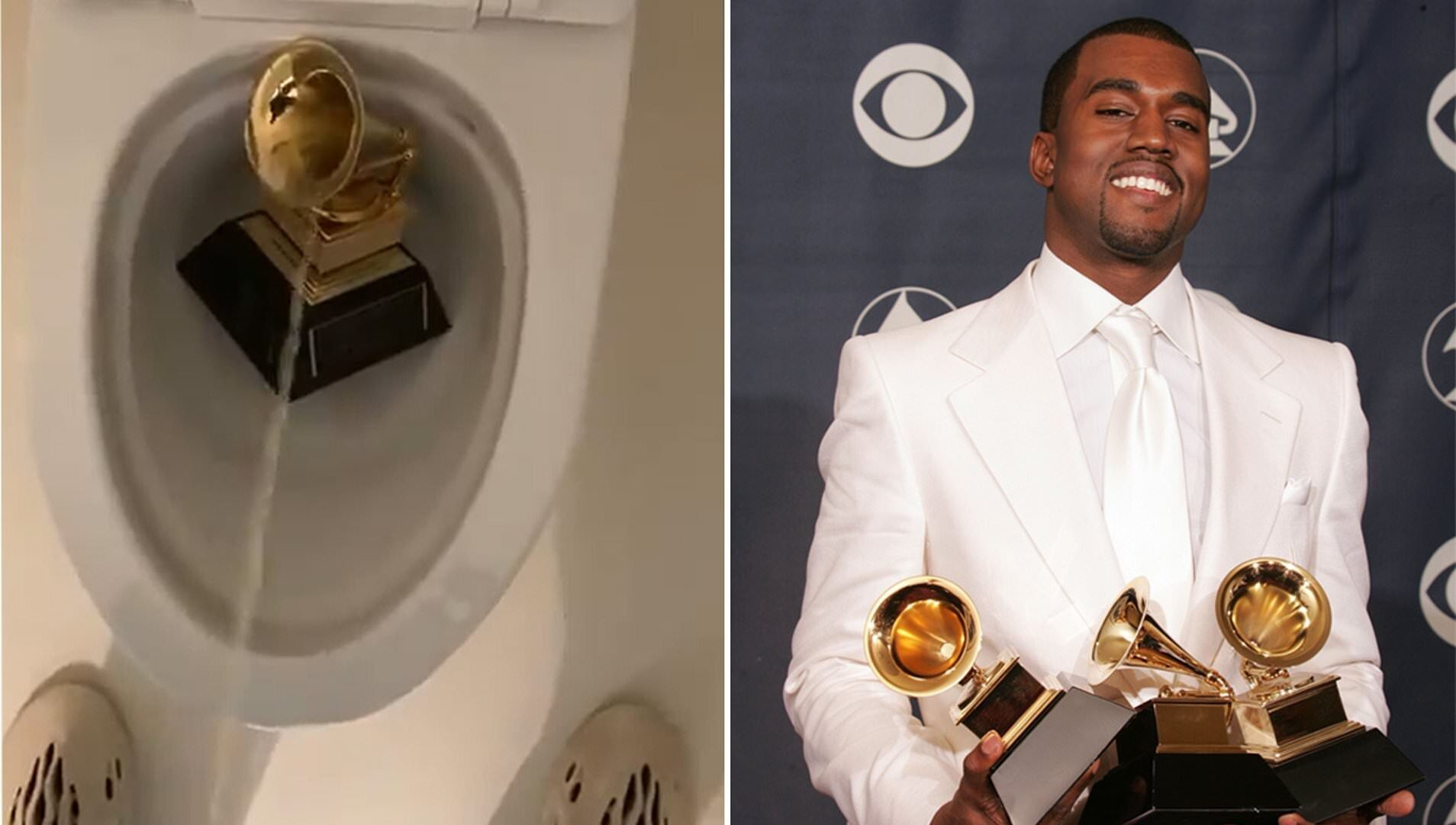 Ünlü Rapçi Afro-Amerikan haklarını savunma gerekçesiyle Grammy ödülünün üzerine çişini yaptı!