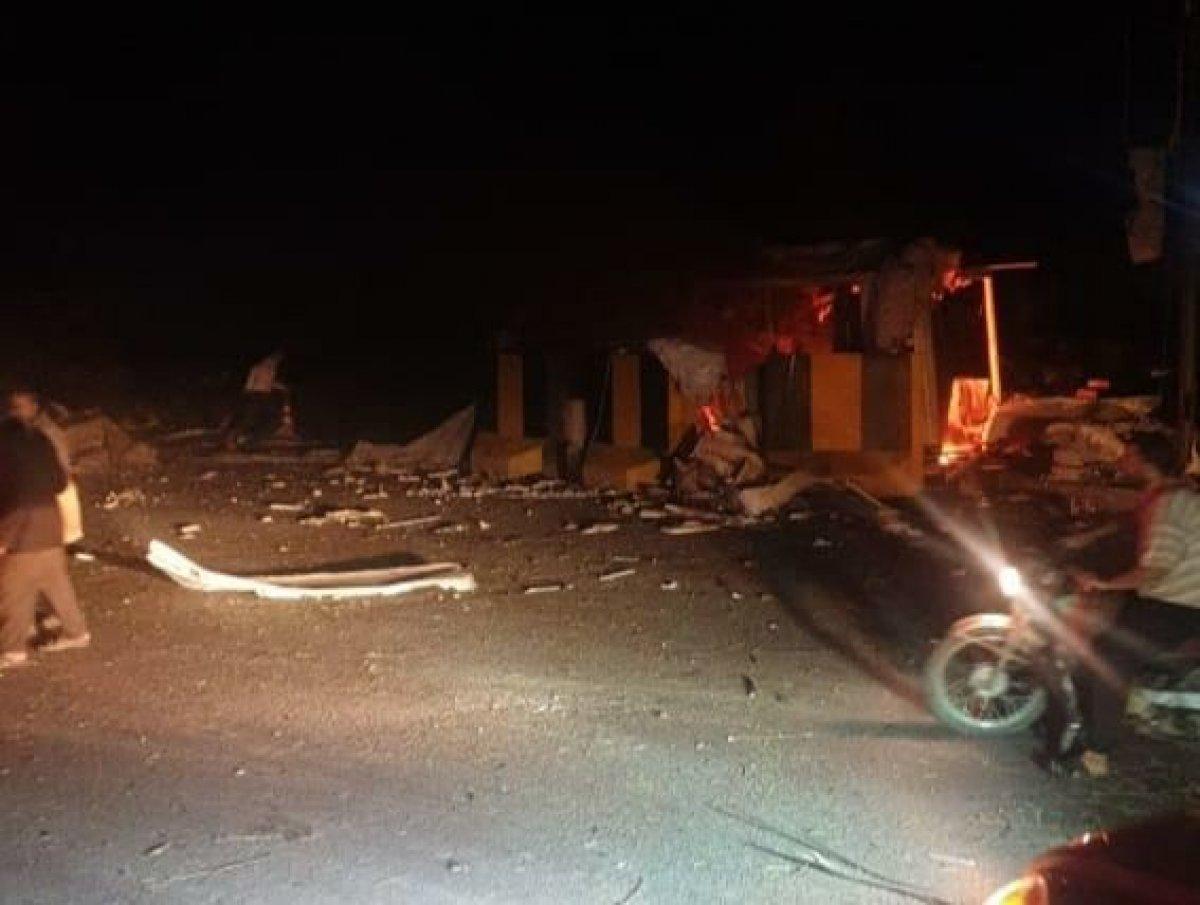 El-Bab'da bombalı terör saldırısı! Can ve mal kaybı var!