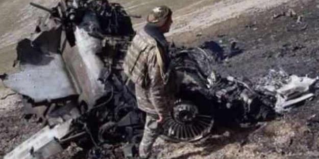 Azerbaycan saldıran  Ermenistan savaş uçağını düşürdü!