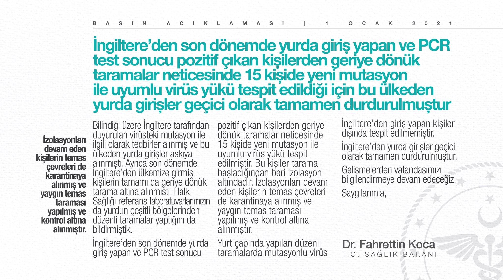 Mutasyona uğramış virüs Türkiye'de de görüldü!